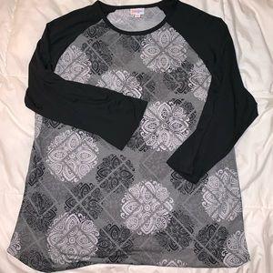 LuLaRoe Randy Shirt 3x - Soft Fabric Black Gray